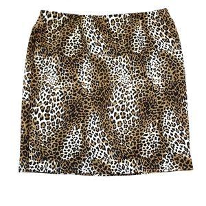 Cato's Plus Size Leopard Print Skirt